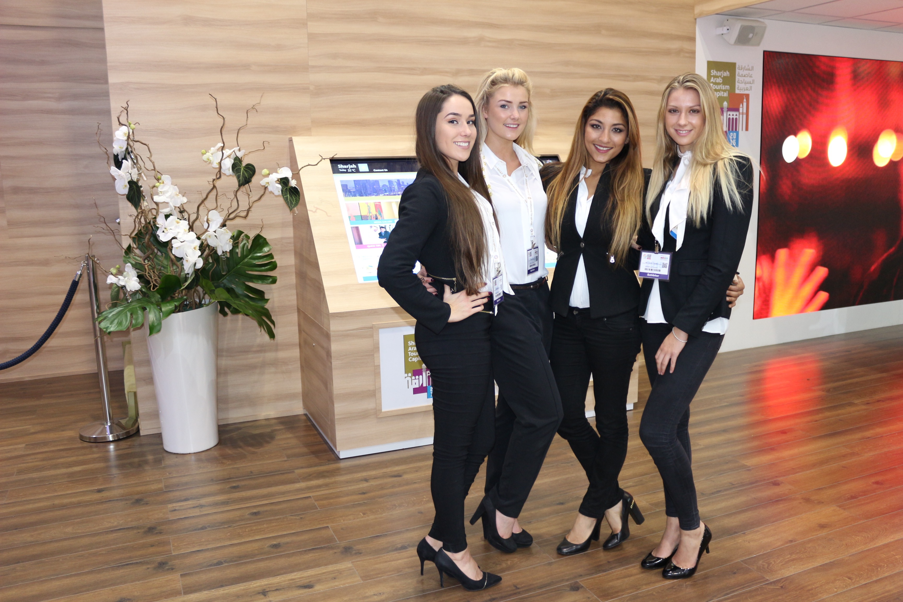 Exhibition Stand Builders Sharjah : Exhibition stand hostesses exhibition girls limited exhibition