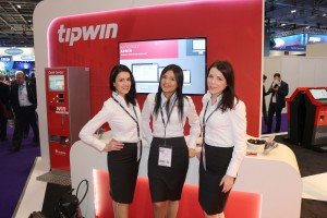 tradeshow models at DSEI ExCel London