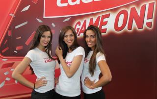 Promotion girls for Ladbrokes in Amsterdam
