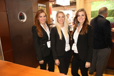 Exhibition Girls Staffing Agency at the FInance Magnates Summit-min