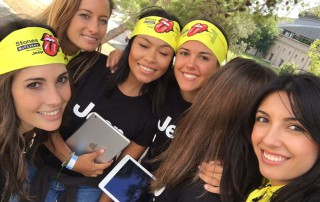 Promotion Girls collecting data capture working for Jeep Discovery for the Rolling Stones European Tour in Barcelona-min (1)