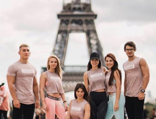 Exhibition Girls Gymshark Pop up store launch Paris October 2017