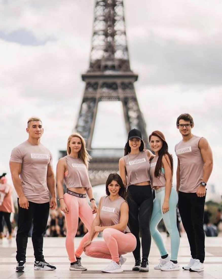 Exhibition Girls Gymshark Pop up store launch Paris October 2017 ... 8cc8897468666