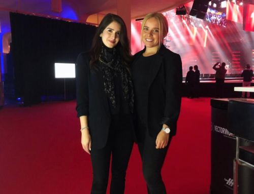 Exhibition Staff from Exhibition Girls Limited at IBC Amsterdam